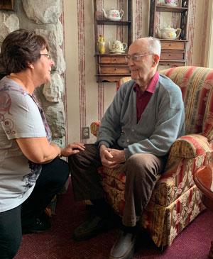 caring staff with senior